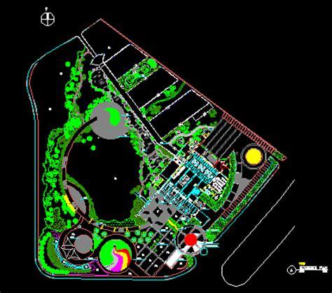 small park  autocad  cad   mb