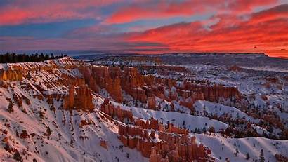Bryce Canyon National Park Wallpapers Snow Sunset