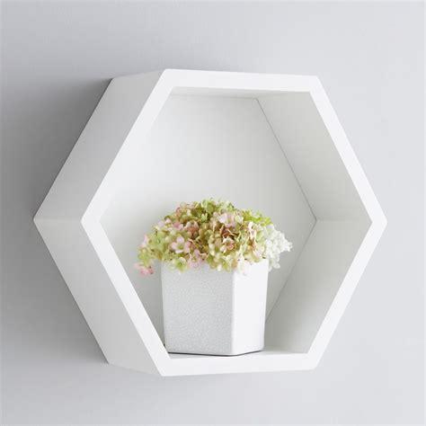 floating wall shelves bjorn hexagon shelf furniture shelving b m stores