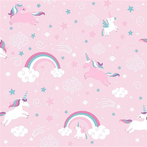 Girly Pink Wallpaper by Pink Unicorn Wallpaper Girly Rainbow Fairytale