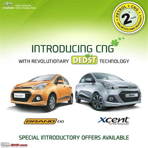 Hyundai Grand I10 & Xcent Now Available With Cng Kits