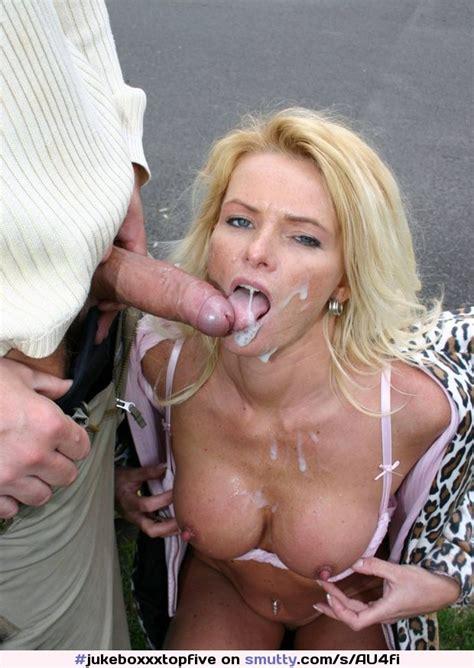Blonde Milf Titsout Onherknees Cleavage Nicetits