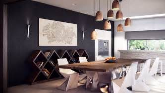 rustic modern dining table interior design ideas