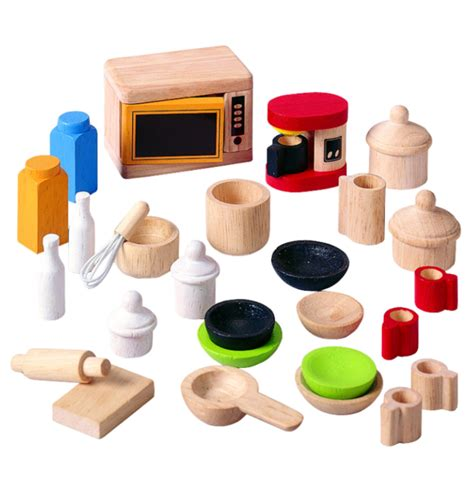 dollhouse kitchen accessories plan toys dollhouse kitchen accessories and tableware 3420