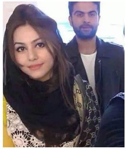 ahmad shahzad celebrating birthday   wife