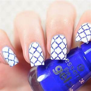 White And Blue Nail Art | www.imgkid.com - The Image Kid ...