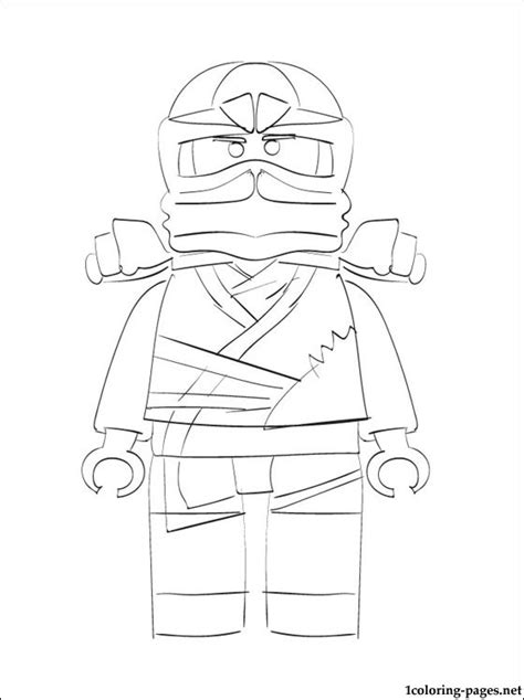 lego ninjago zane coloring page coloring pages