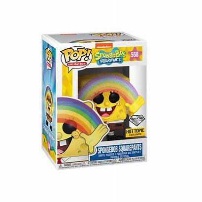 Spongebob Funko Squarepants Diamond Glitter Rainbow Pop