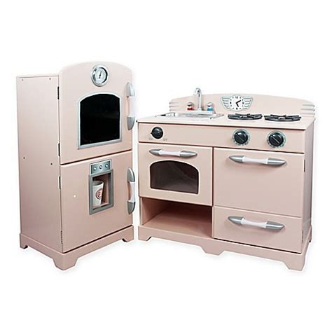teamson kids  piece wooden play kitchen set  pink buybuy baby