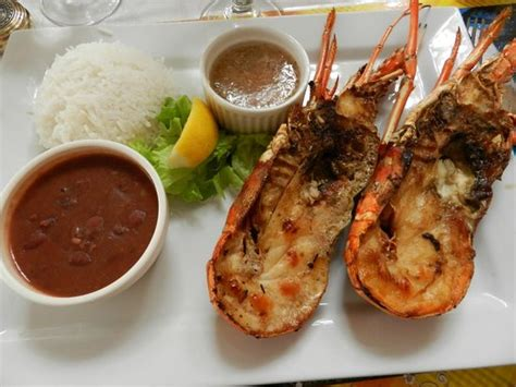 cuisine langouste langouste picture of restaurant la marine martinique