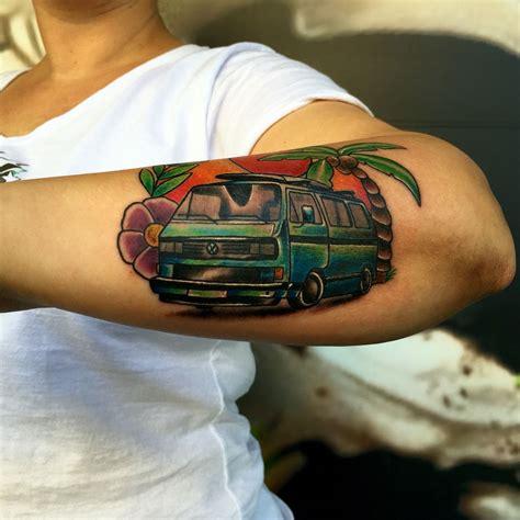 volkswagen bus tattoo vw cer tattoo tattoo pinterest vw tattoo and