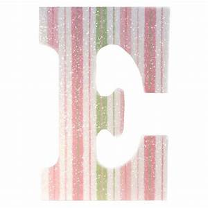 pink green stripe glitter wall letters rosenberryroomscom With pink glitter letters for wall