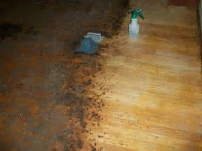 to remove years worth of carpet glue and ground in dirt on a hardwood floor before sanding