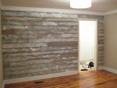 Wall Wood Covering Faux Grey Distressed Accent