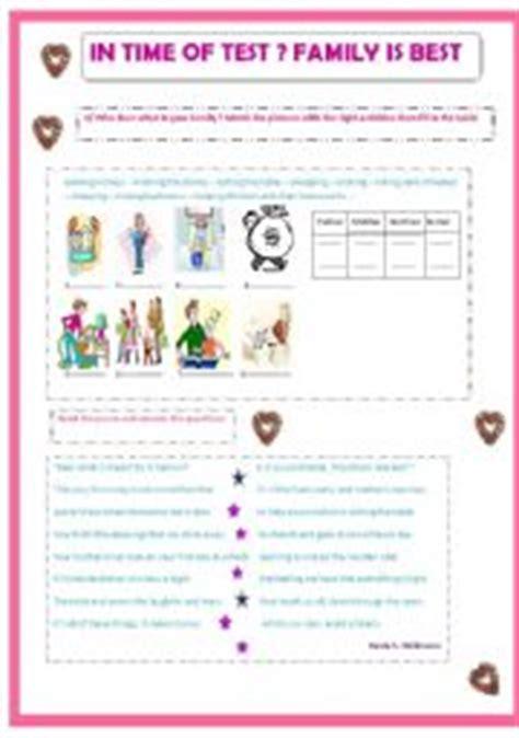 worksheet family roles