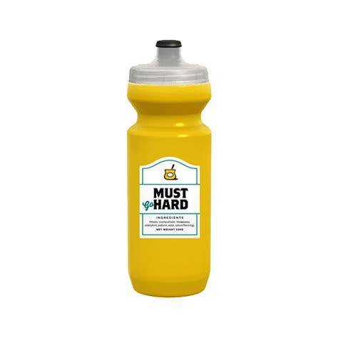 Must Go Hard Water Bottle - Spurcycle