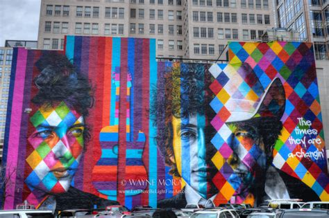 times    changing giant bob dylan mural
