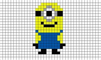 Pixel Minion Lego Bit Drawings Minions Minecraft