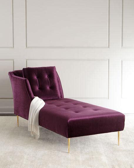 purple chaise lounge purple button tufted velvet chaise