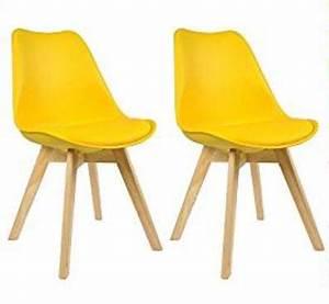 Chaise Scandinave Jaune : chaise tulipe revisitee jaune chaise scandinave ~ Teatrodelosmanantiales.com Idées de Décoration