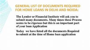 documents required for your home loan application home With documents needed for home mortgage