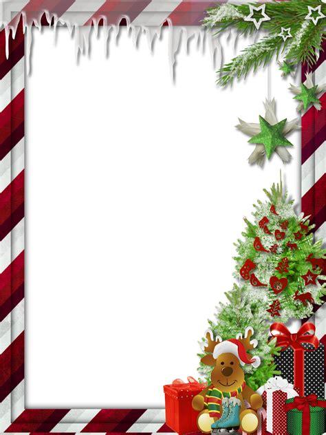transparent christmas photo frame  cute reindeer