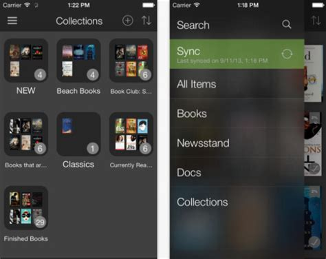 s kindle app update for ios 7 lets users