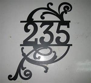 plasma cut metal house number or monogram by With plasma cut letters