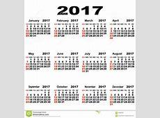 Europejczyka Kalendarz 2017 Zdjęcie Stock Obraz 49905901