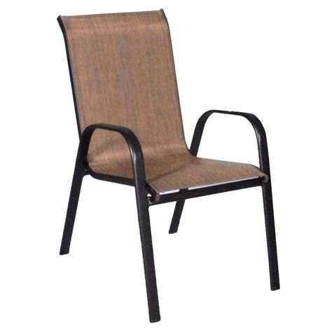 dixon stacking sling outdoor dining chair patio furniture