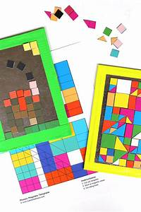 Art Ideas for Kids: DIY Mosaic Magnets - Babble Dabble Do