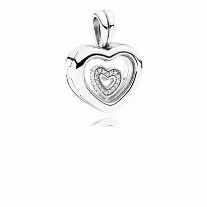 Pandora Locket Floating Medaillon Herz Charm Heart