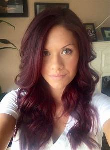 Red violet hair | hair | Pinterest