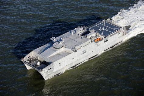 Catamaran Ship Navy by Austal Delivers Aluminum Epf Catamaran To U S Navy