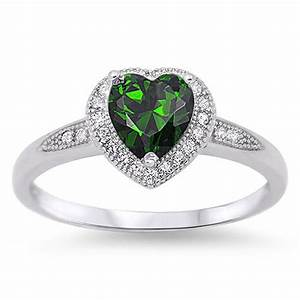 heart halo promise ring new 925 sterling silver wedding With promise engagement wedding ring
