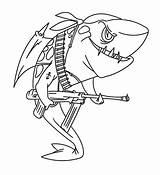 Shark Coloring Pages Printable Ocean Sea Under Underwater Sheet sketch template