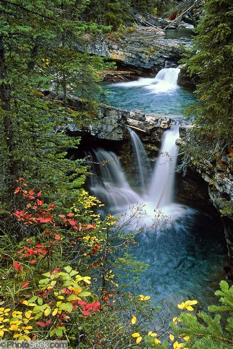 waterfalls johnston canyon banff national park alberta