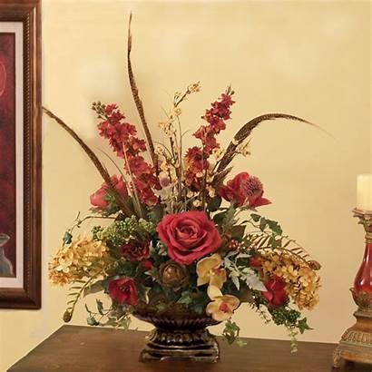 Arrangements Flower Floral Silk Artificial Burgundy Flowers