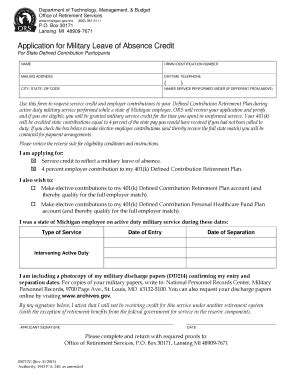 military leave form fill online printable fillable