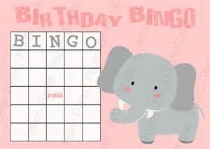 Free Printable Elephant Baby Shower Bingo Cards