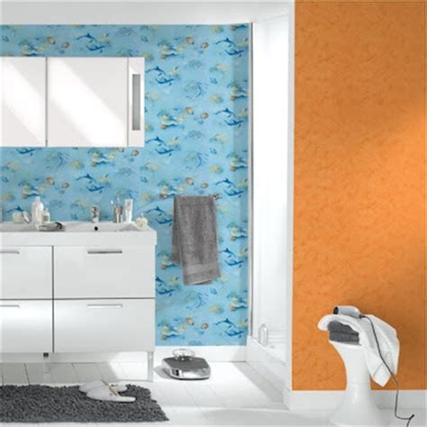 tapisserie de salle de bain interieur design peinture