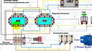 Forward Reverse Motor Control Wiring Diagram For 3 Phase Motor  Urdu  Hindi