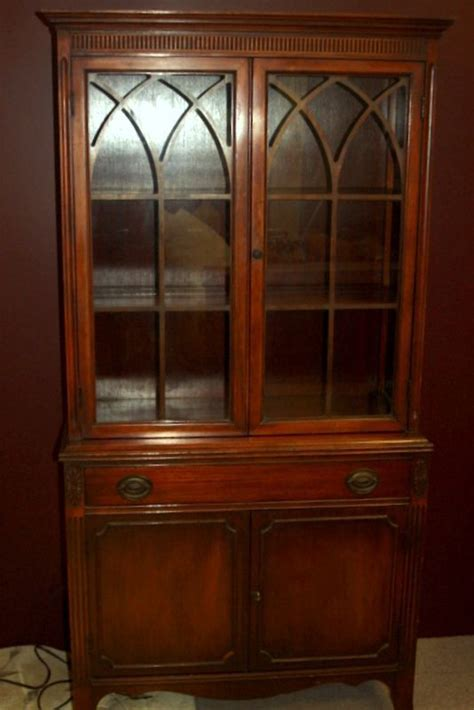 image detail  vintage china cabinet federal period