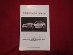 2008 Chrysler Sebring Quick Reference Guide Owners Manual