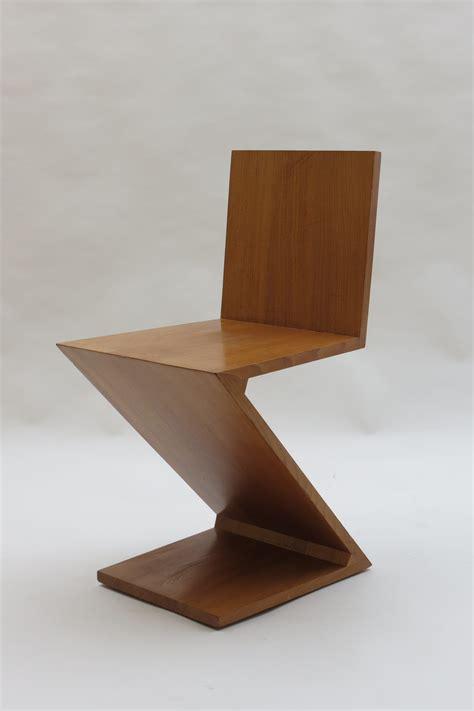 zig zag chair by gerrit rietveld for cassina italy