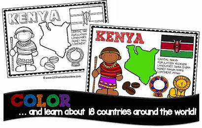 Countries Coloring Pages Country Children Grade 1st