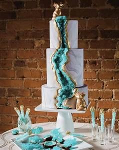 13 Geode Wedding Cake Ideas that are Stunning