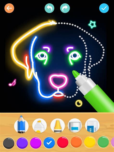 draw glow animals android apps  google play