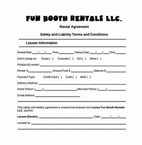 booth rental agreement 8 samples examples format With funny contract template