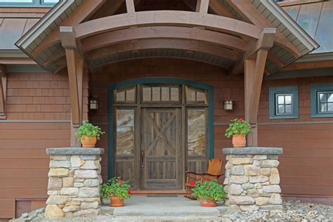 Custom Home Gets Unique Front Door  Sisler Builders Blog